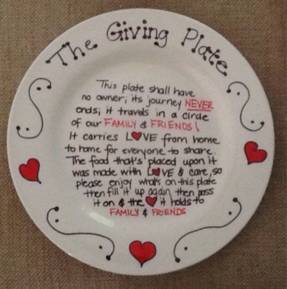 The Giving Plate Painted Ceramic Plate Hearts Plate & 25+ best the giving plate images on Pinterest | Sharpie plates ...