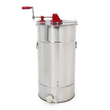 2 Frame Honey Extractor Tank Stainless Steel Beekeeping Honey Comb Drum