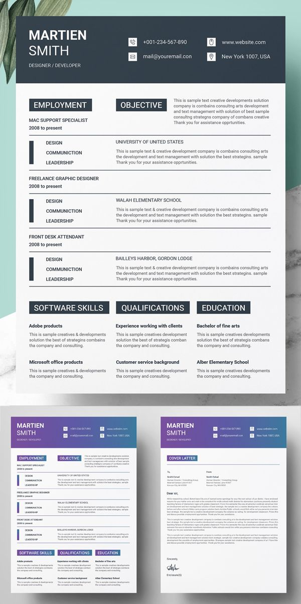 Professional Cv Resume Templates With Cover Letters Design Graphic Design Junction Cv Resume Template Resume Templates Resume Design Template