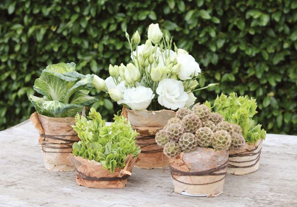 {DIY Tutorial} Rustic & Natural Wedding Centerpiece Idea @Genevieve Sherman