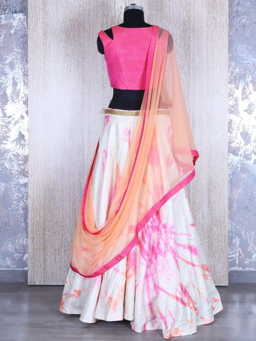 Shop Pink Circular Satin Silk Lehnga Choli By G3+ Video Shopping
