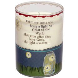 "Curly girl ""Light Remains"" candle  Wonderful sympathy gift..."