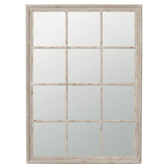 In the shape of a traditional sash window our lovely mirror is sized large enough to be a feature mirror above a mantlepiece or in a hall, or as a solo feature on a wall. It can also be used to create all sorts of Trompe L'oiel effects, for example at the end of a corridor or in a dimly lit room.