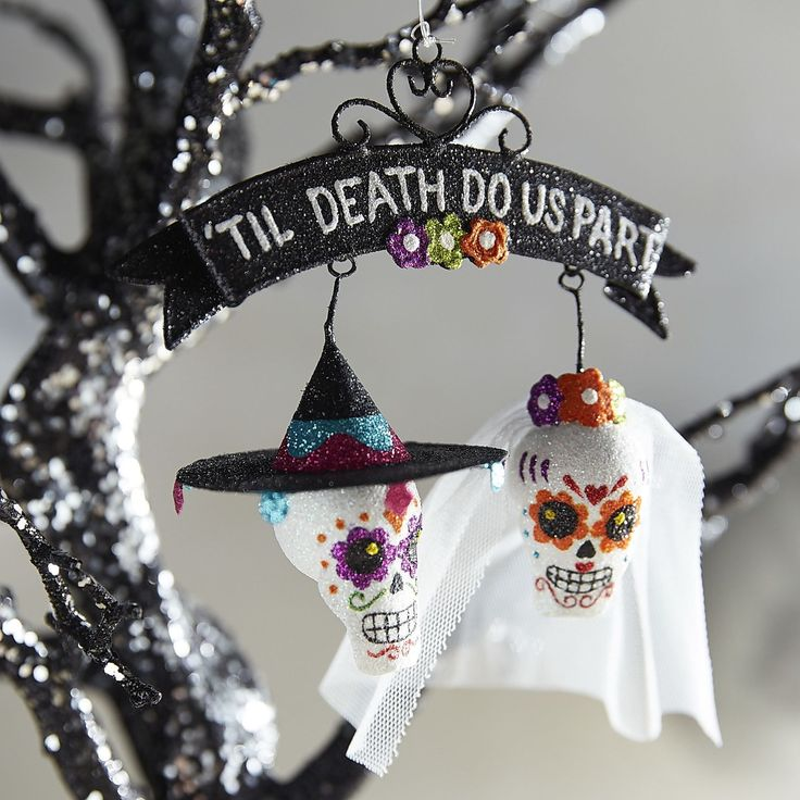 til death do us part ornament - Day Of The Dead Halloween Decorations