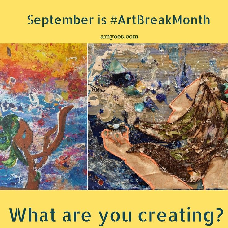 What are you creating for Art Break Month?  Here's tips, crafts, projects…