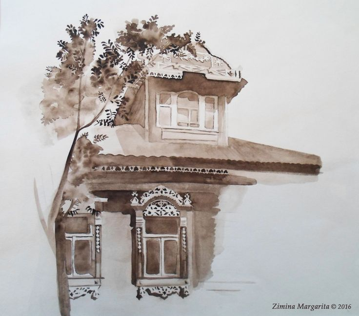 """Carved House in Kolomna"" by Margarita Zimina. ""Резной дом в Коломне"" Зимина Маргарита."