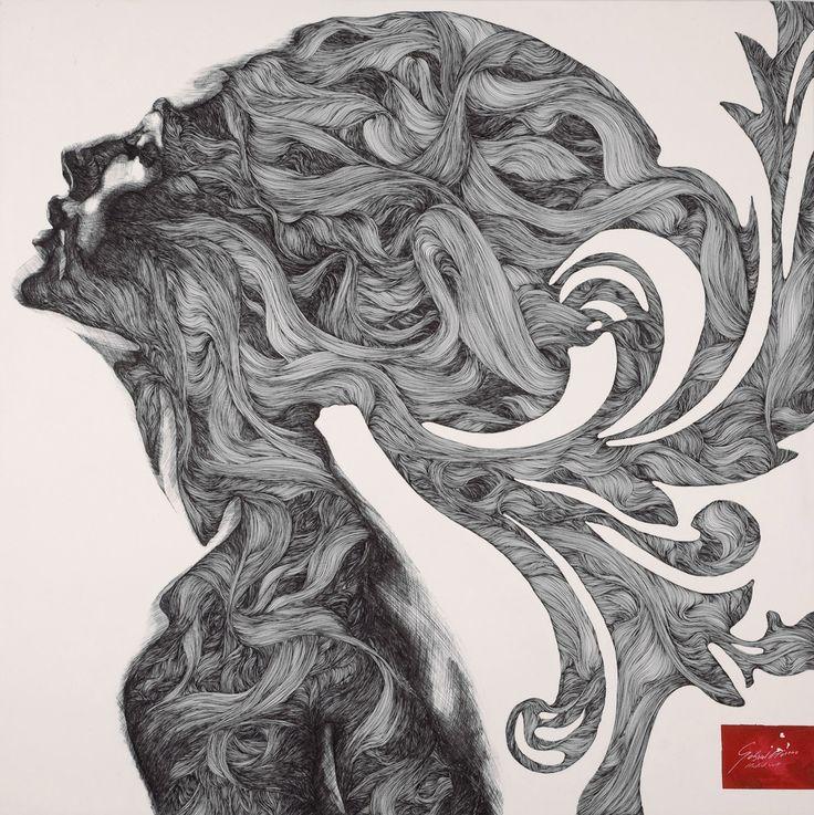 Модерновый испанский художник и график - Габриэль Морено (Gabriel Moreno)