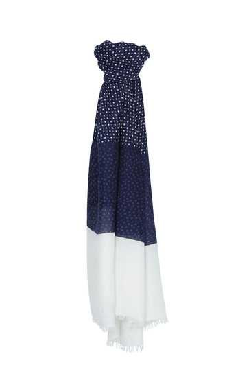 #white & #blue #scarf #TALLYWEiJL