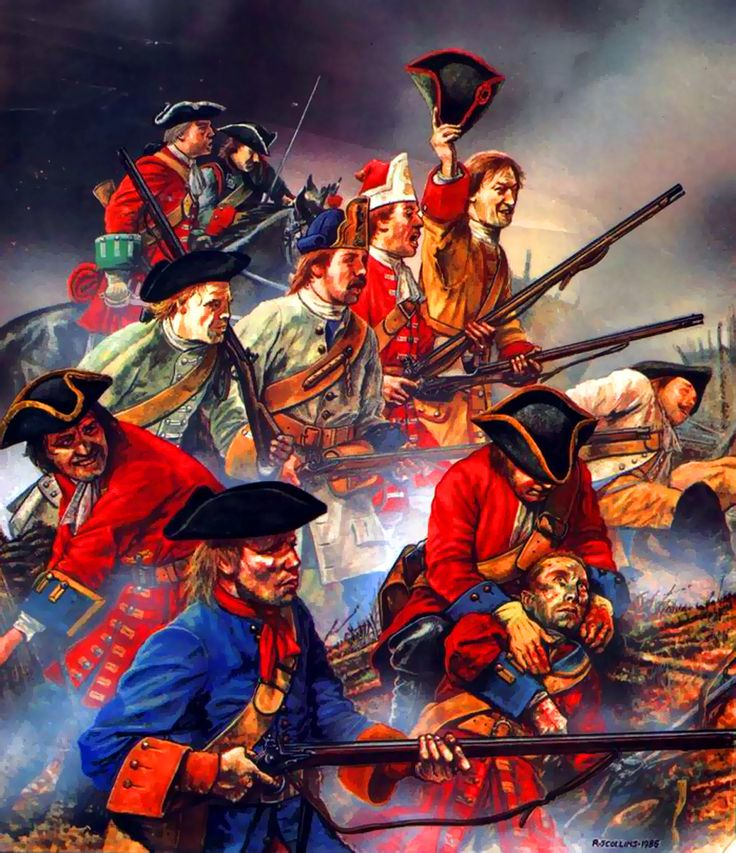 Austrian and British allies troops at the Battle of Blenheim, War of the Spanish Succession- by Richard Scollins