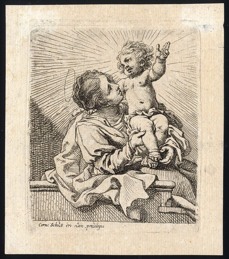 Schut, Cornelis - Madonna and Child. 17th century.