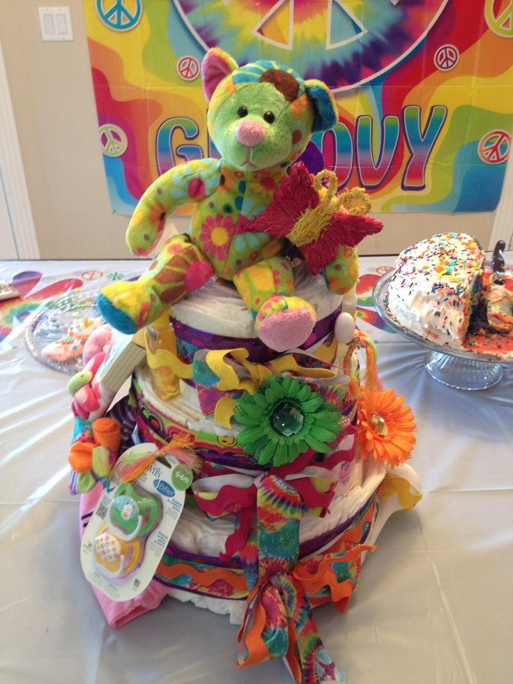 Hippie diaper cake