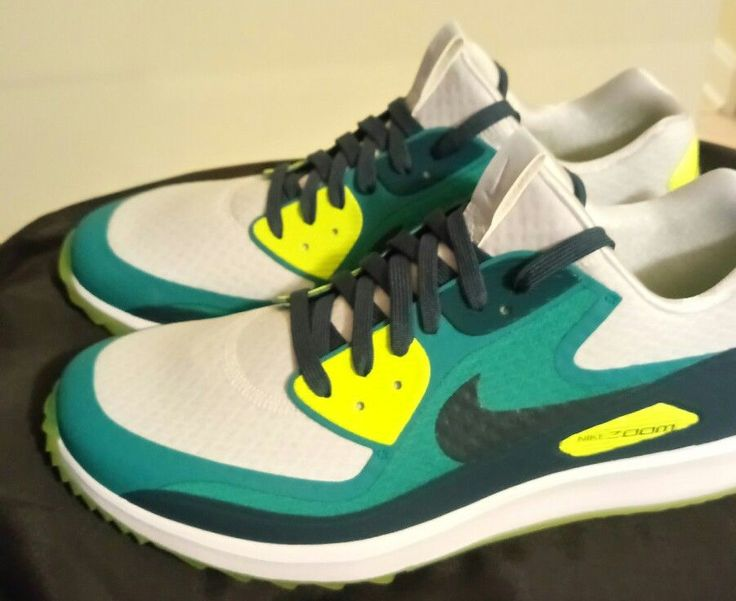 NIKE AIR ZOOM 90 GOLF IT 844569-002 Rory Mclroy Spikes Green Volt 11.5 SHOES NEW #Nike #GolfShoes