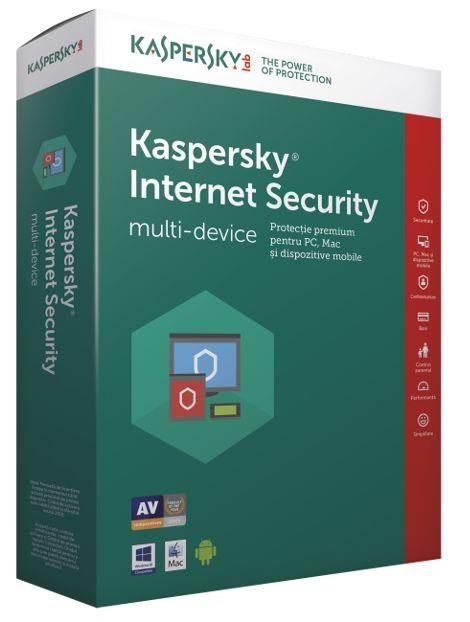 Kaspersky Internet Security Multi DeviceProtectie  premium pentru PC, Mac si telefoane sau tablete Android. Atunci cand  realizezi operatiuni bancare, faci cumparaturi sau socializezi online,  Interne...