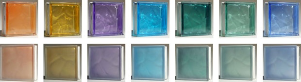 Colored glass block frosted glass block stained glass for Glass block alternatives