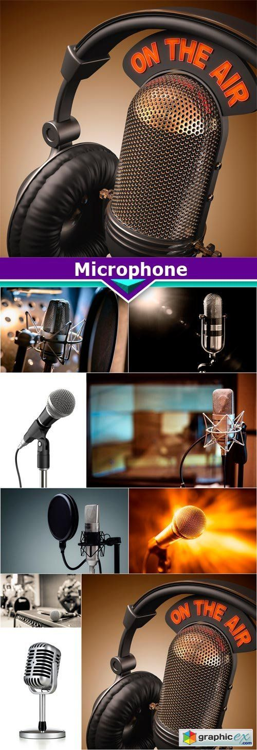Microphone 9X JPEG  stock images