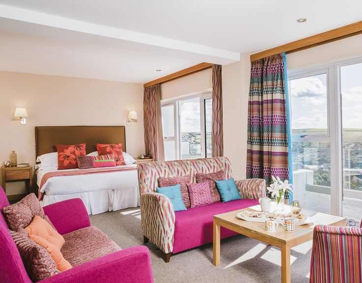 Calypso Fabric Used As Curtains In One Of The Apartment Suites At Bedruthan Hotel