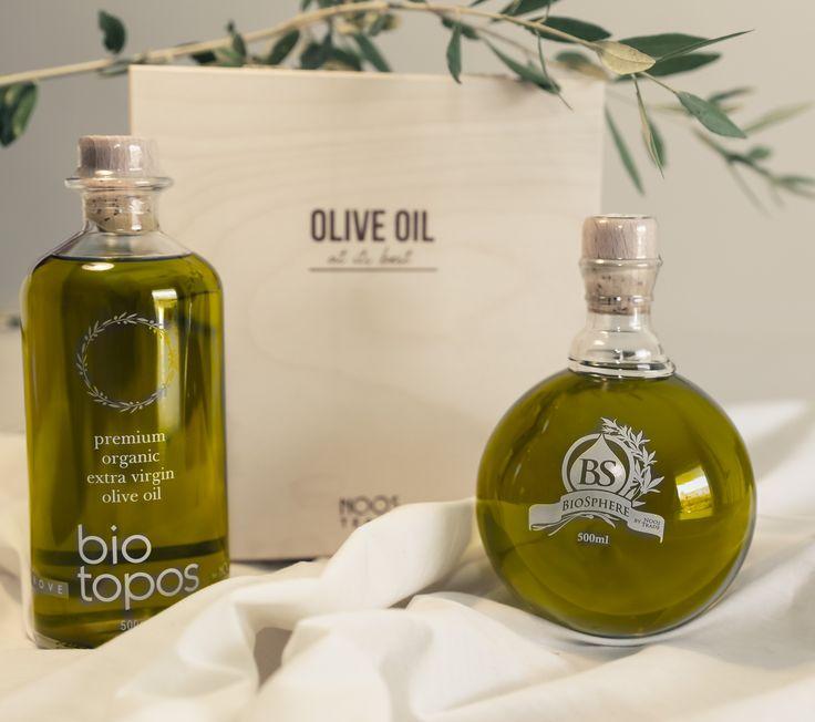 Biosphere and Biotopos premium olive oils from Messinia, Dry farmed - Monovarietal - Koroneiki.