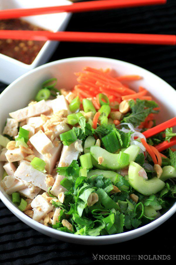 Think asian chicken over vermicelli gold, All