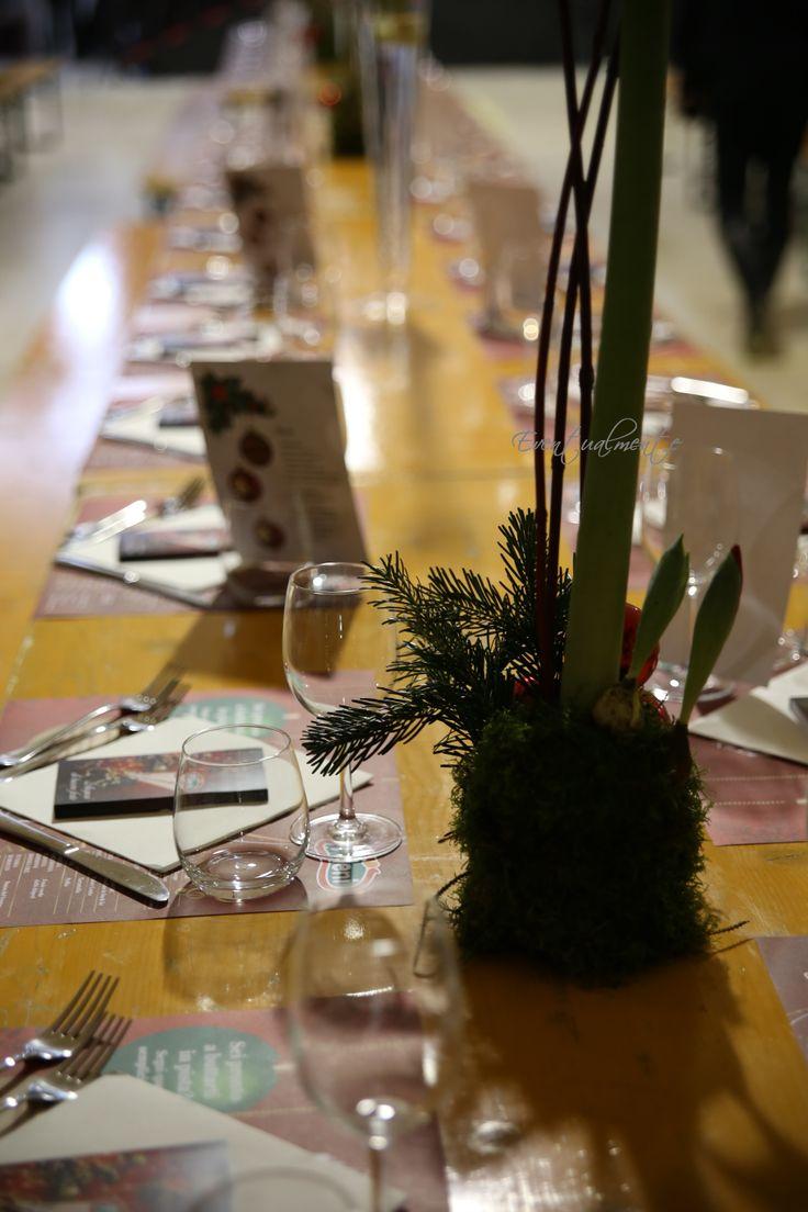 Cena aziendale natalizia - Installazione in una ex sartoria