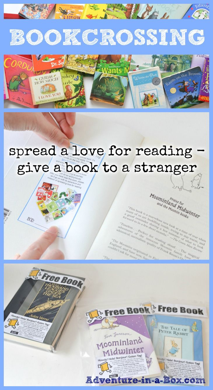 Kindness crafts for preschoolers - Bookcrossing For Kids Spread A Love For Reading Give A Book To A Stranger