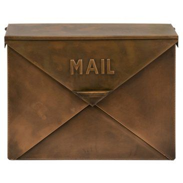 Check out this item at One Kings Lane! 16x12 Mailbox, Copper Finish
