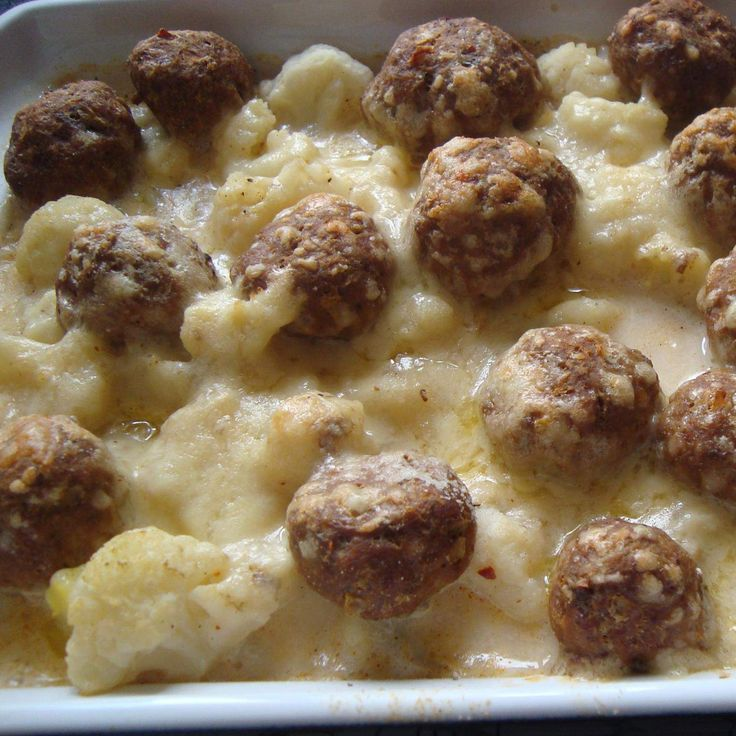 Rezept Kartoffel-Blumenkohl Auflauf mit Hackbällchen von Bina1979 - Rezept der Kategorie Hauptgerichte mit Fleisch