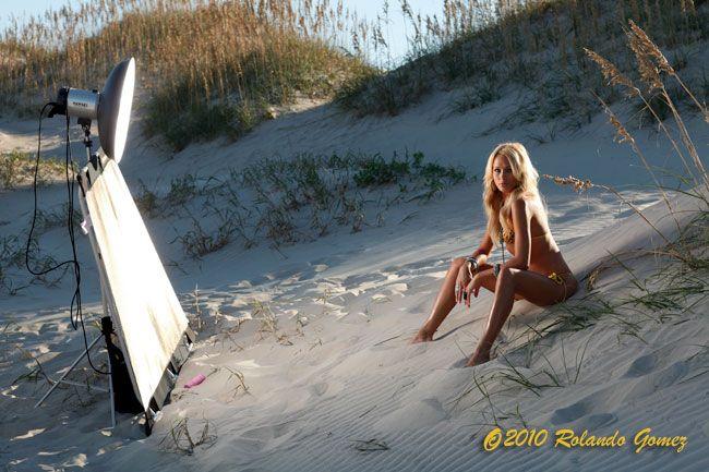 Outer Banks Photography Workshop Lighting Set-up photo