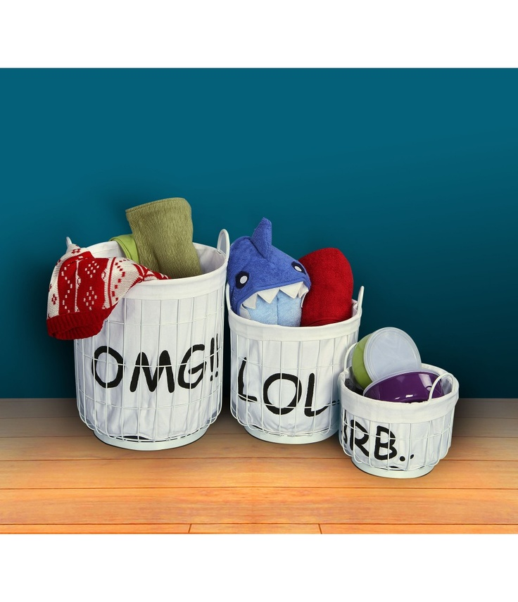 If you often find yourself on social networking sites OMG, LOL, BRB Baskets - Set of 3 modren and trendy.