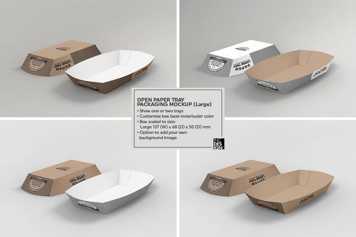 Download Paper Takeout Trays Packaging Mockup Packaging Mockup Free Packaging Mockup Food Box Packaging