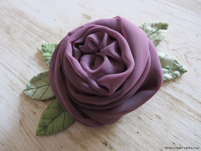 Английская роза из шифона. Мастер-класс (1) (700x525, 253Kb)