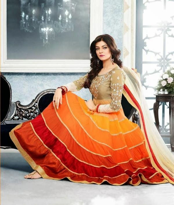 Sushmita sen in oranges and reds