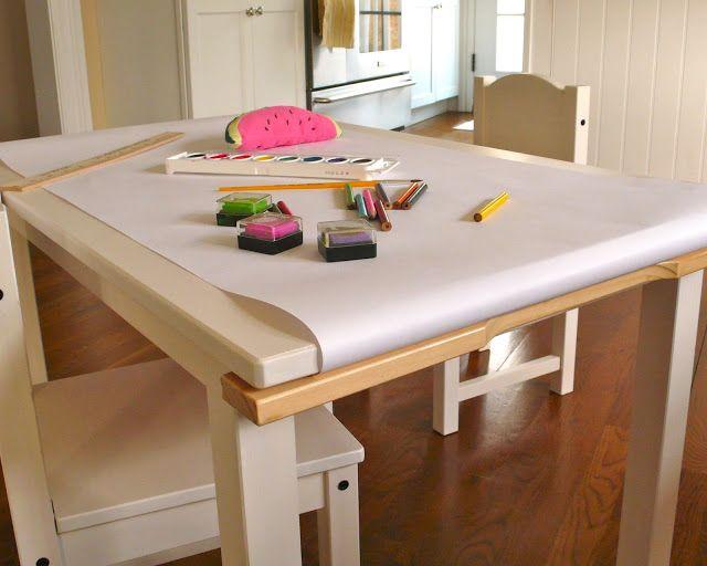 kiddo art table   Sea Urchin Studio