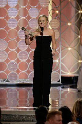 Amy Poehler: First-Ever Golden Globes Host to Win While Hosting. Congratulations Amy, I love your work, well deserved! And a shout out to Andy, I am going to check out his new show now.