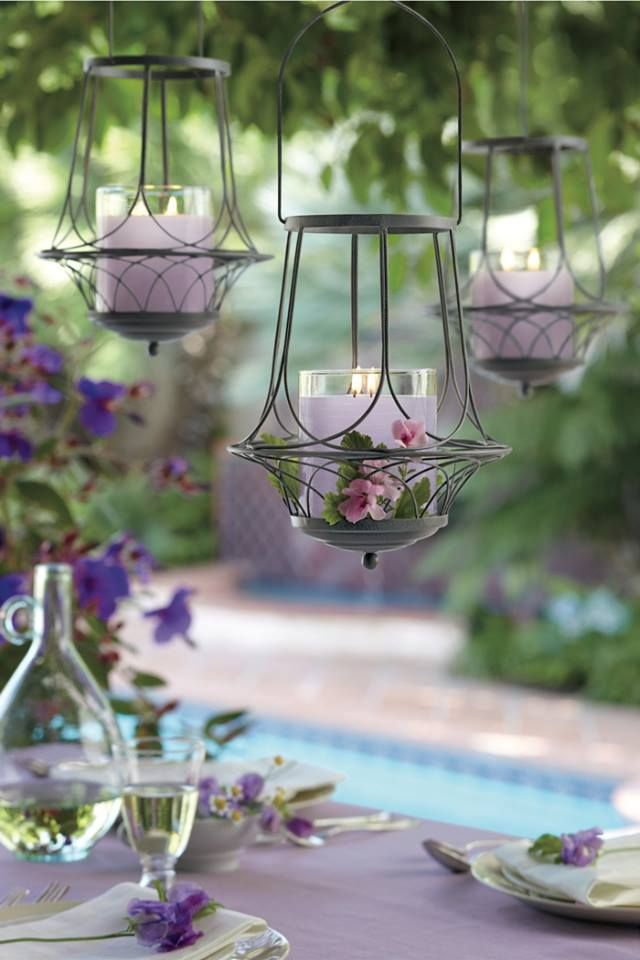 hanging candle lanterns....
