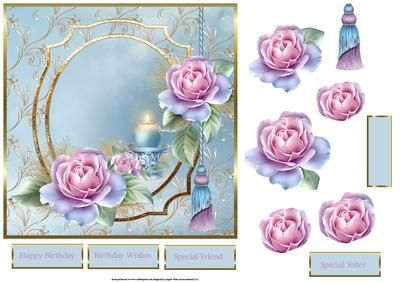 1000+ images about 3 D Decoupage on Pinterest | Pink roses ...