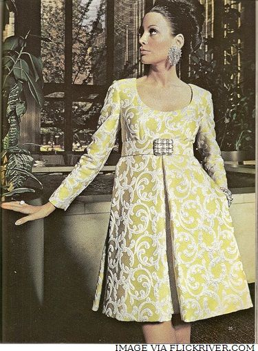 1970 - Oscar de la Renta  The height of haute--looking like a child dressed by a couch.