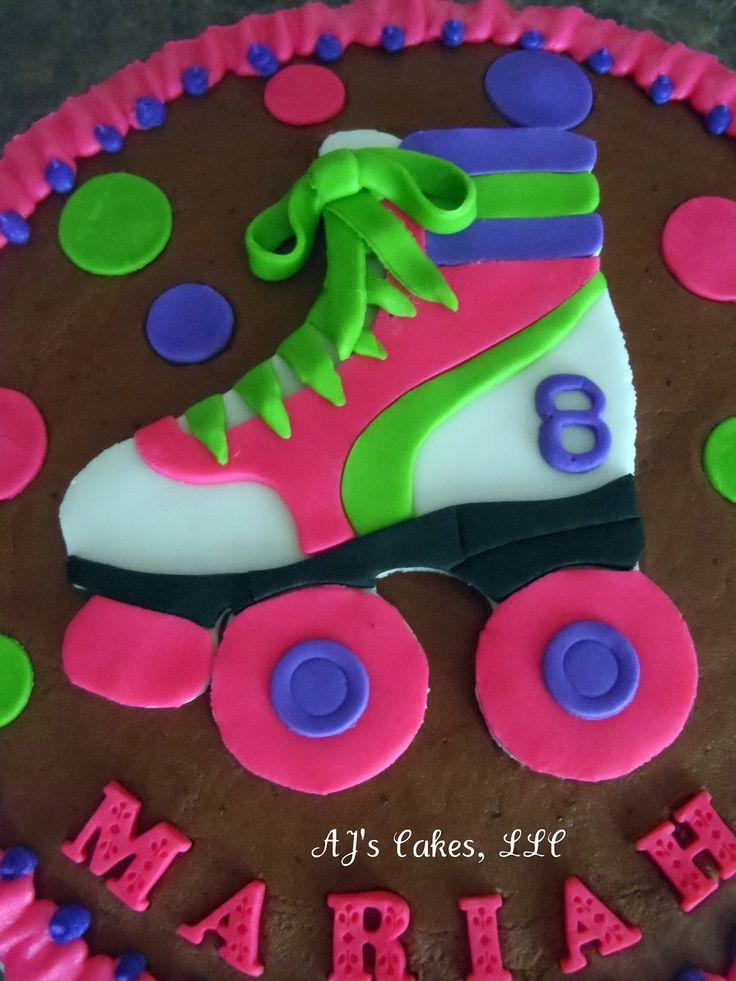 Best Roller Skate Cake Ideas On Pinterest Skate Party - Neon birthday party cakes