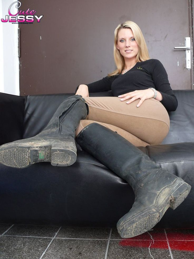 Boot fetish riding woman