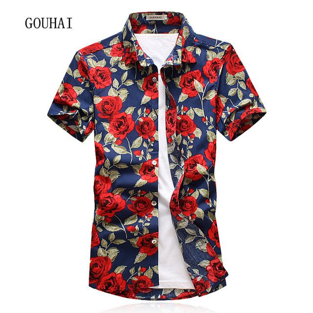 Special price 2017 Summer Men Shirt Short Sleeve Mens Floral Shirt Camisa Social Masculina Plus Size Casual Shirt Man M-4XL 5XL Chemise Homme just only $14.08 with free shipping worldwide  #shirtsformen Plese click on picture to see our special price for you