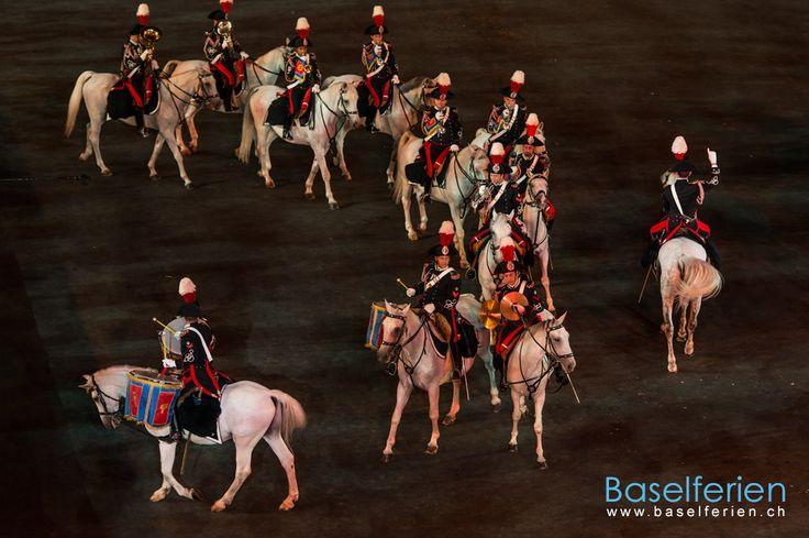 #Basel Tattoo 2013 - Mounted Fanfare Band of the Carabinieri, #Italien