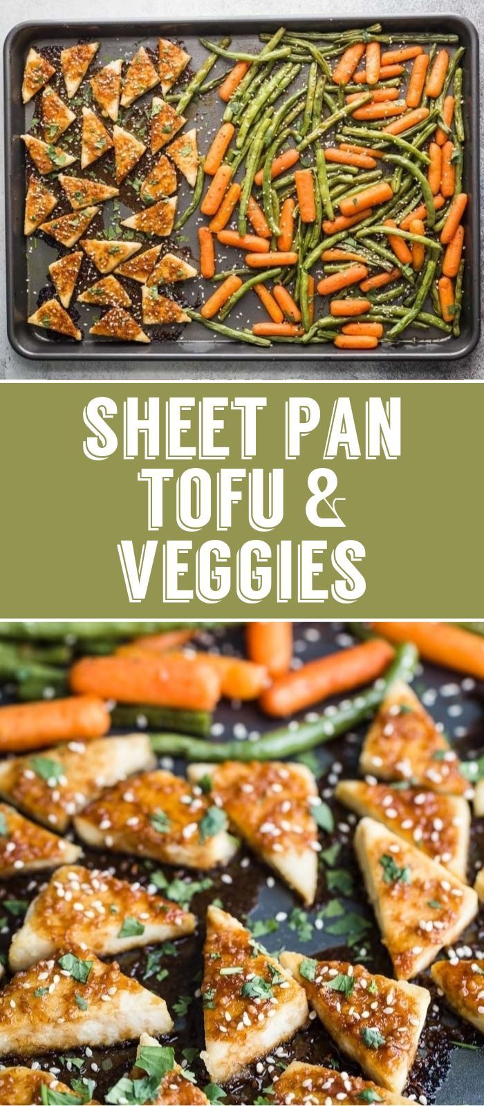 Sheet Pan Tofu & Veggies- this easy sheet pan dinner is simple to throw together…