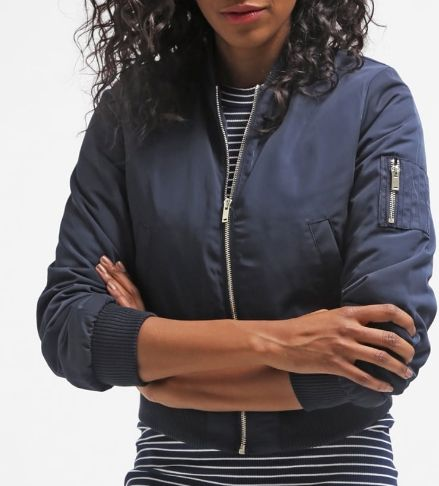 Miss Selfridge Kurtka Bomber navy blue