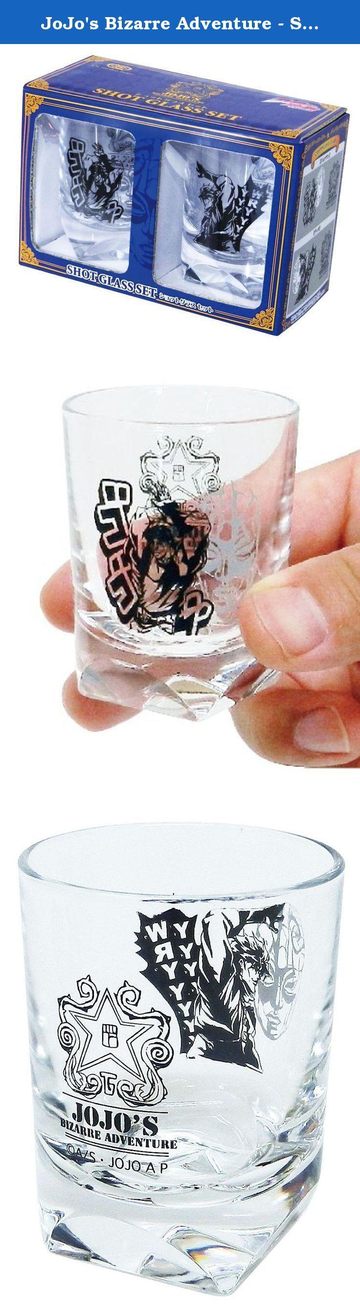 JoJo's Bizarre Adventure - Shot Glass (set of 2) by Morimoto industry. H60mm x 48mm in diameter.