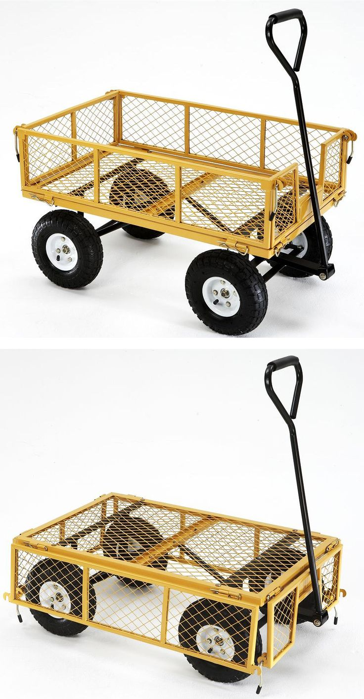 This Pull Wagon Can Carry Heavy Loads With Ease The Sides Fold Down, Too