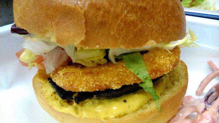 Gracie's Halloumi & Portobello Mushroom veggie burger......yum