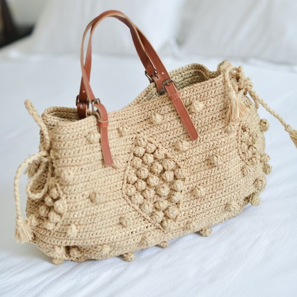 Gerard Darel Bag The Crochet Pattern On Ravelry Is Called Bobbles By Umme Yusuf Bags Pinterest And