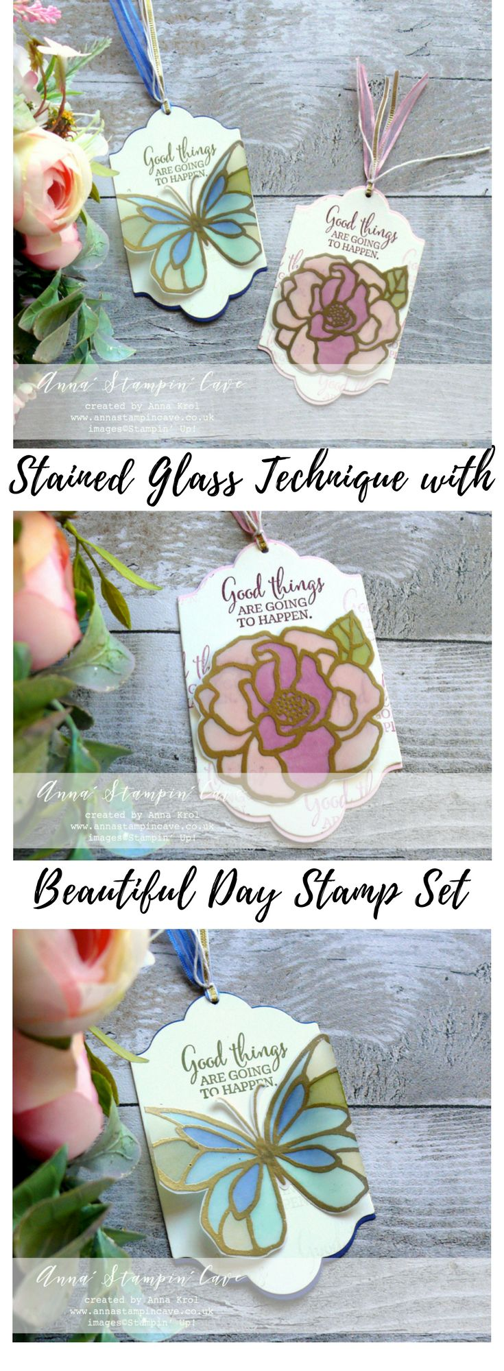 Anna' Stampin' Cave – For The Love of Creating – Beautiful Day Stamp Set Hello and welcome to our very first For the Love of Creating with Stampin' Up! Blog Hop. We are super excited to share with you an array of creations showcasing products from 2018 Occasions (Spring-Summer in the UK) catalogue and Sale-A-Bration freebies …