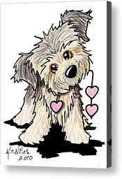 Border Terrier Heart Strings Drawing by Kim Niles - Border Terrier Heart Strings Fine Art Prints and Posters for Sale