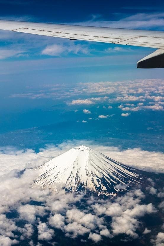 Mount Fuji from a plane