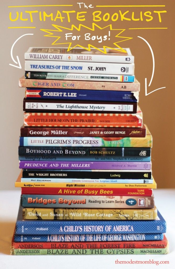 The Ultimate Booklist for Boys! | themodestmomblog.com
